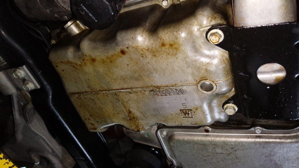 DTSエンジンオイル漏れ