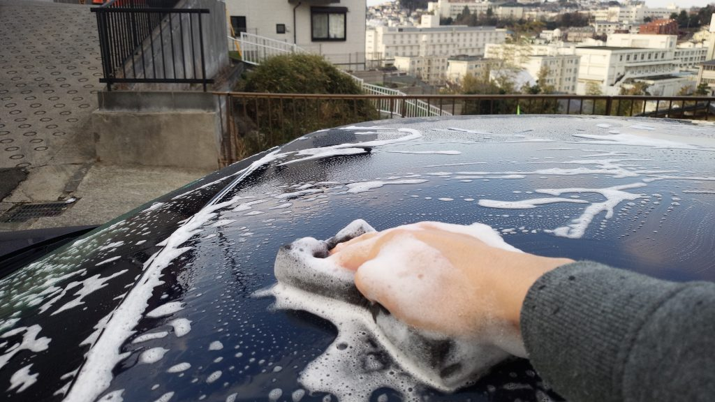 洗車作業ルーフ